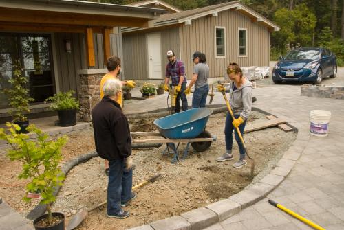 Garden-excavation